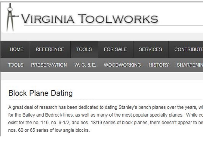 Dating the stanley # 35 plane