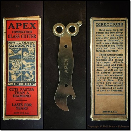 Apex combination glass cutter