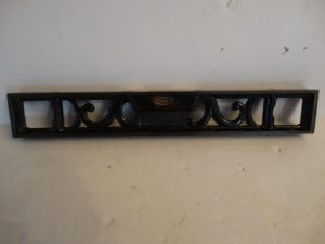 Antique L.S.S.CO Athol mass fancy iron level 12 inch black painted starrett