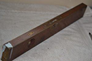 Antique Stratton Brothers Bros No.1 Brass Bound Wood Level 24