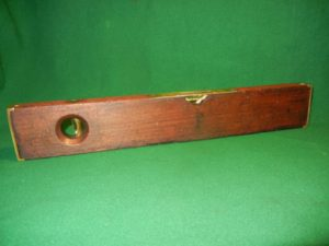 antique Stratton Brothers 19 inch wood & brass level patent 1872 & 1888