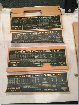 Reattached and Replaced Labels for Stanley 45