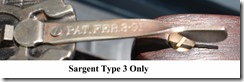 Sargent Type 3 Only